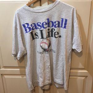Vintage 90s single stitched baseball tee shirt xl